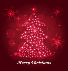 shiny christmas tree celebratory background vector image vector image