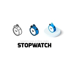 Stopwatch icon in different style vector image vector image