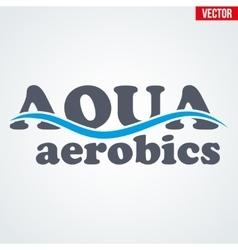 Symbol of aqua aerobics vector