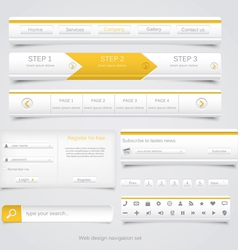 Web site navigation menu pack 3 vector