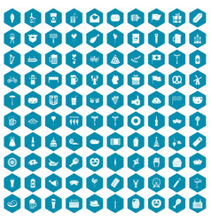100 beer party icons sapphirine violet vector