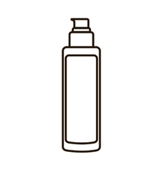 Cream bottle make up style product icon vector
