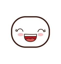 Kawaii cartoon expression icon graphic vector