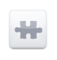 white puzzle icon Eps10 Easy to edit vector image