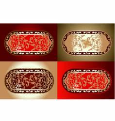 decorative designs vector image