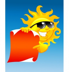 Sun and scroll vector