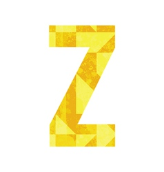 Abstract color alphabet z vector