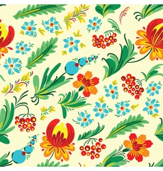 Ukrainian floral seamless vector image