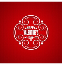 Valentines day vintage design background vector
