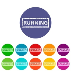 Running flat icon vector