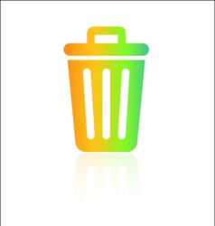 Rainbow rubbish bin icon vector