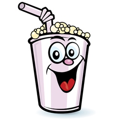 Happy milkshake character vector