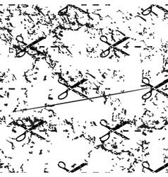 Cut pattern grunge monochrome vector image