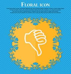 Dislike sign icon thumb down hand finger down vector