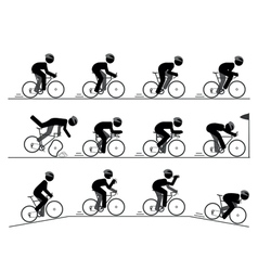 Bicycle racing pictogram vector