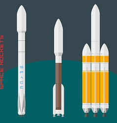 American space rockets set vector