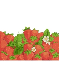 Fresh tasty strawberries vector