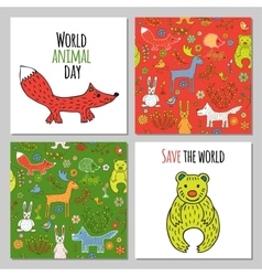 Set of woodland animals vector