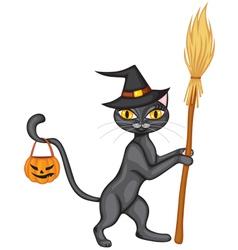 halloween kitty2 vector image