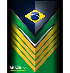 Geometric brazil color background vector