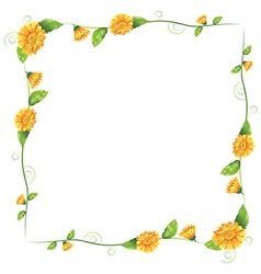 A border with orange flowers vector image vector image