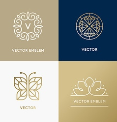 Abstract modern logo design templates in trendy vector
