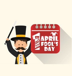 April fools day entertainer date image vector
