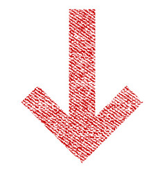 arrow down fabric textured icon vector image