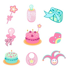 birthday design elements vector image vector image