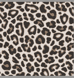brown leopard or jaguar seamless pattern modern vector image vector image