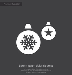 Christmas Decorations premium icon white on dark b vector image