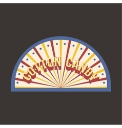 Circus vintage candy cotton label banner vector