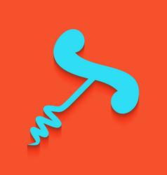 Corkscrew sign whitish icon vector
