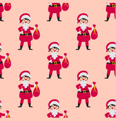 Cute santa kids wearing christmas costumes vector