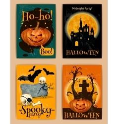 Halloween retro posters vector image
