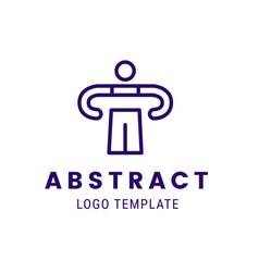 human outline character logo concept vector image vector image