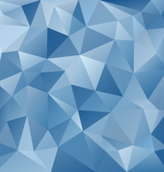 ice blue abstract polygon triangular pattern vector image vector image