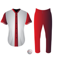 isolated baseball uniform vector image