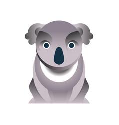 Koala bear stylized geometric animal low poly vector