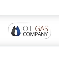 Logo for oil gas industry vector