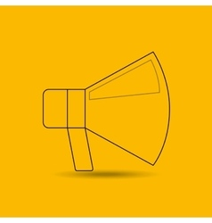megaphone isolated design vector image vector image