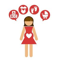 pregnancy design vector image