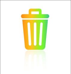 Rainbow rubbish bin icon vector