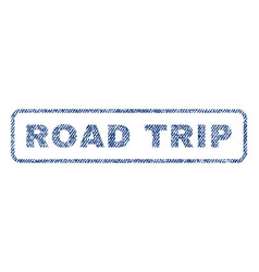 Road trip textile stamp vector