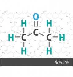 set of chemistry organic formulas vector image vector image