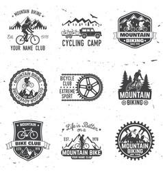 Set of mountain bikings clubs vector