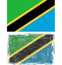 Tanzania grunge flag vector