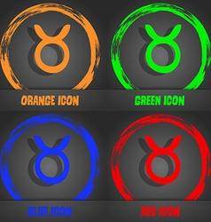 Taurus icon Fashionable modern style In the orange vector image
