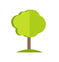Tree in flat style design vector image vector image