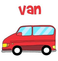 Van car vector
